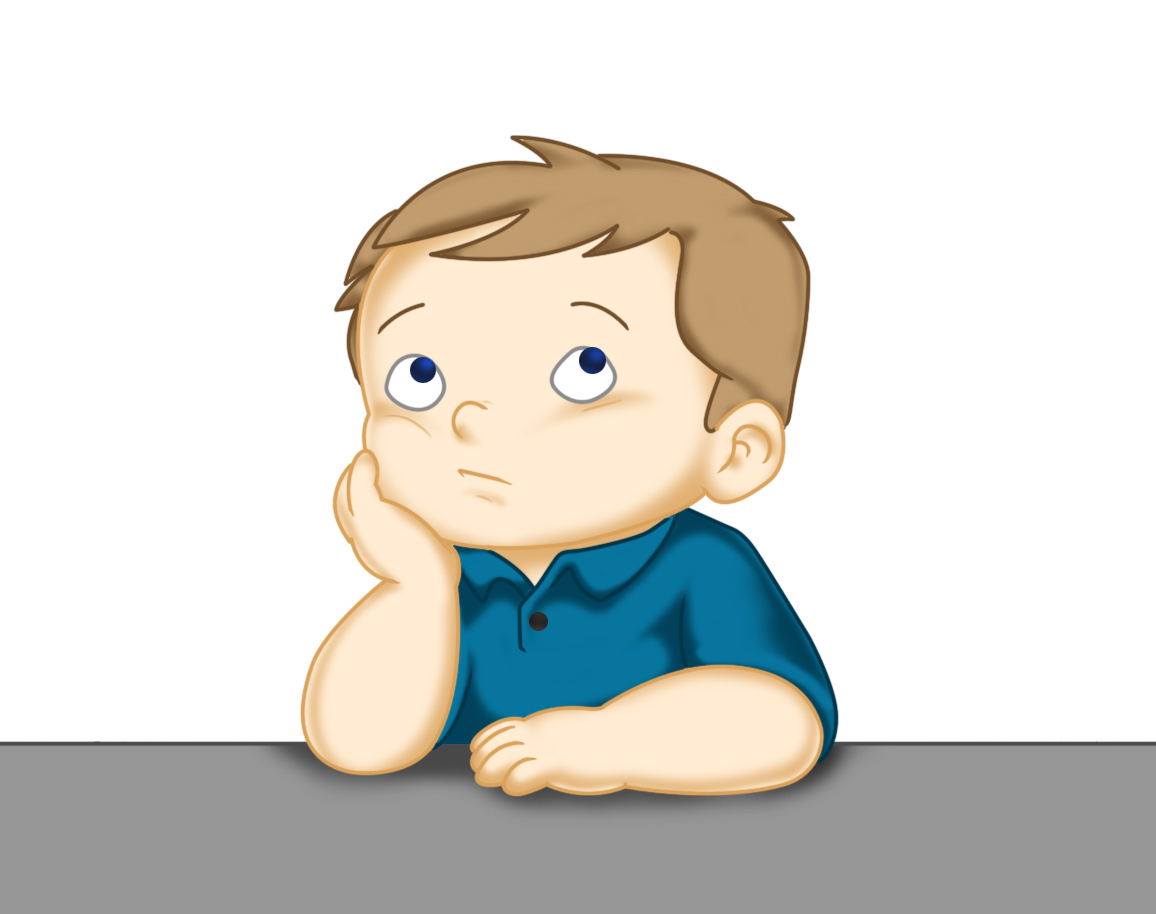 Thinking Clipart For Kids Thinking boy